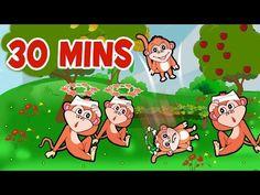 #FiveLittleMonkeys & many more songs for you! #kids #nurseryrhymes