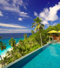 Arrive by helicopter to this private island escape. Need we say more? #Seychelles