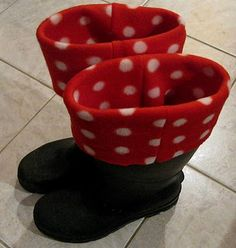 DIY Fleece boot liners, with how to make step by step instructions.