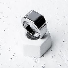 Our tungsten Lourd ring is so tough it can only be scratched by diamonds or more tungsten // $80 // worldwide shipping // vitalydesign.com #vitaly #fashion #silver