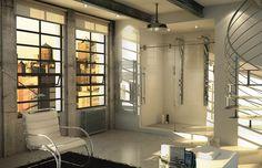 Thalassa Plomberie Décorative - Porte de douche Mechanix de Maax - - page 3 Shower Doors, Alcove, Furniture, Home Decor, Bathrooms, Hardware, Kit, Shopping, Image