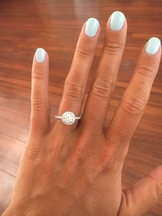This halo engagement ring is definitely a favorite!