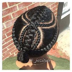 #BackView excuse my shadow lol.... HIT or MISS?  My client was inspired by @quincy #JAZITUPHAIR #JAZITUPBRAIDS CALL AND MAKE YOUR APPOINTMENT TODAY❗️❗️❗️ (7⃣1⃣8⃣)-7⃣9⃣1⃣-5⃣0⃣4⃣7⃣ #men #mensbraids #menhairstyle #braids #cornrows #jumbobraids #style #atlantahairstylist #salon #hair #ProtectiveStyles #naturalhair #teamnatural #braidideas #atlbraider #berrycurly #naturalhairstylist #healthyhair #cutcreatersatl #cutcreatersalonsuites