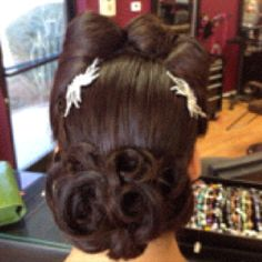 My daughter's hair for Prom, done beautifully by the Salon Pin Up in Whittier, CA. They do beautiful pin up girl up-dos. :)