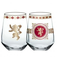 Game of Thrones Lannister Stemless Wine Glass [Set of 2]