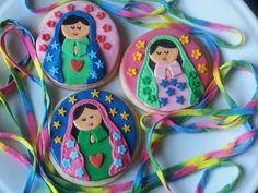 Detalles de las galletas de Virgencita plis