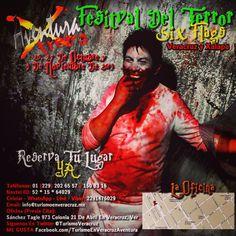 Tienes una cita en el #festival del #terror este #domingo 20 de #octubre saliendo de #Veracruz y #Xalapa http://www.aventuraextrema.com.mx/sixflags.htm #Mexico