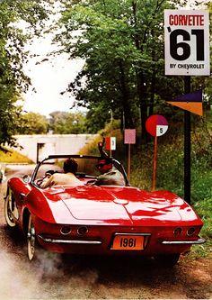 """Corvette '61  """"This is the cover of the Corvette Catalog Folder for 1961."""