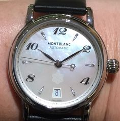 Montblanc for ladies with mother of pearl face