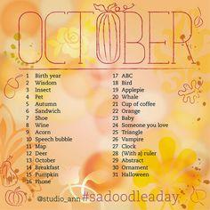 Hier de Doodle a Day lijst voor oktober, enjoy!     Here's the Doodle a Day list for October, enjoy!     Een aantal goede redenen om m...
