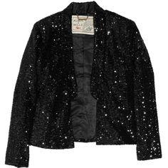 Aubin & Wills Sliverthorne sequined satin tuxedo jacket ($132) ❤ liked on Polyvore
