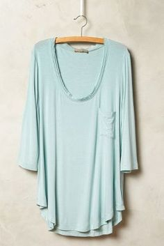 Bordeaux Chiffon-Trimmed Scoopneck #anthrofave #anthropologie