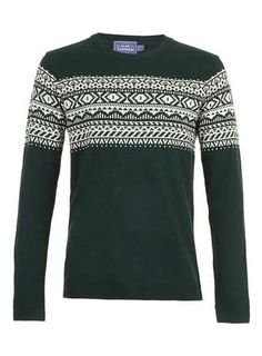 Green And White Aztec Jumper
