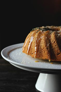 honey almond cake with rosemary + citrus ⎮ happy hearted kitchen