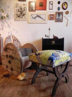 Its amazing what you can do with African fabric and old furniture…#diywithstyle