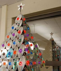 Diply.com - Top 5 Upcycled Christmas Trees Using Unusual Material