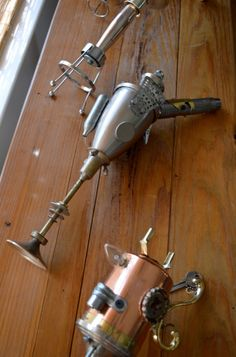 ray guns made from found objects by Gavin Pugh