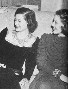 Myrna Loy and Loretta Young