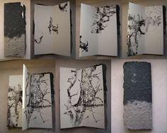 Liber Végétalis 2 by Elisabeth Couloigner   Linogravures sur papier Rosaspina de Fabriano - #sketchbook