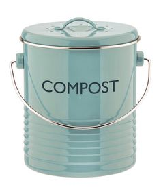 Another great find on #zulily! Blue Compost Caddy by Typhoon #zulilyfinds
