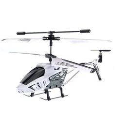 SBEGO ST585-1 Rechargeable 3.5-Channel Gyro System Alloy Structure Infrared R/C Mini Helicopter with Night Light (White)