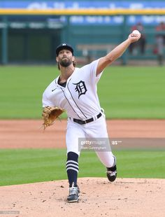 News Photo : Daniel Norris of the Detroit Tigers pitches... Mlb Pitchers, Cincinnati Reds, Detroit Tigers, Baseball Field, Michigan, Game, News, Games, Toy