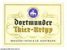 Labels Dortmunder Thier Urtyp Brauerei Thier & Co.