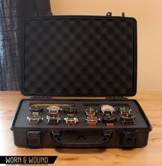 """""""Crap, where am I going to put all these watches?!"""" It's a problem I'm sure many watch nerds have had to address. After all, the sock drawer only works for so long. I recently took on the challenge of finding the perfect watch case for my collection, and I decided to go the DIY route. … Continue reading DIY Pelican Watch Case"""