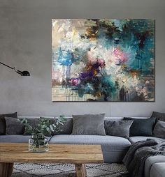 Contemporary art living room color palettes new Ideas Canvas Art Projects, Easy Art Projects, Art Drawings Beautiful, Art Deco Home, Modern Art Paintings, Living Room Art, Painting Inspiration, Creative Art, Contemporary Art
