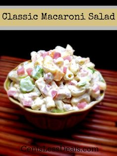 This is an incredibly fresh and delicious pasta salad recipe that is a crowd pleaser every time. By bulking up a traditional Caprese Salad with pasta, you get a more filling dish that still delivers that garden-fresh flavor. Best Salad Recipes, Chicken Salad Recipes, Great Recipes, Favorite Recipes, Pasta Dishes, Food Dishes, Classic Macaroni Salad, Soup And Salad, Pasta Salad