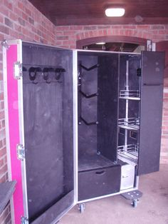 Equibox Tack Lockers-build tack box with pull outs like in a kitchen