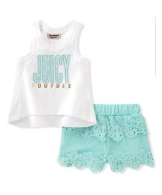 6f1bcde29 Turquoise  Juicy Couture  Tank   Shorts - Toddler   Girls  zulily   zulilyfinds