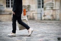 Man wearing Carol Christian Poell sneakers