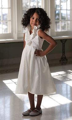c2bfdf730a5 Lille Couture flower girl dress is a ruffle collared dress with pleated  clean hem skirt in taffeta.
