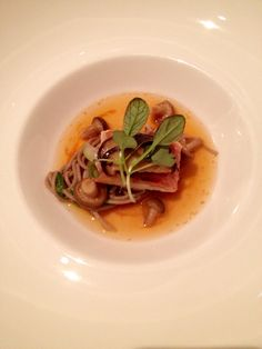 Sea urchin, buckwheat noodles and smoked eel - Alyn Williams at The Westbury
