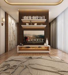 Modern Master Bedroom With Living Area - Qatar on Behance Modern Master Bedroom, Bedroom Bed Design, Bedroom Decor, Lightroom, Adobe Photoshop, Luxury Homes Interior, Home Interior Design, Interior Plants, Interior Ideas