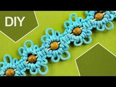 Macrame Flower motif with Beads in center / Tutorial 2 - YouTube
