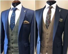Whitfield & Ward is a one-stop shop for both men's suit hire and bespoke tailoring services, offering a personal experience from start to finish. Wedding Suit Hire, Tweed Wedding Suits, Best Wedding Suits, Blue Suit Wedding, Wedding Dress Men, Wedding Men, Mens Fashion Suits, Mens Suits, Groom And Groomsmen Suits