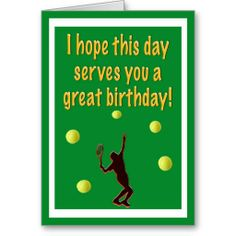 19 best tennis theme greeting cards images on pinterest greeting tennis player happy birthday card m4hsunfo