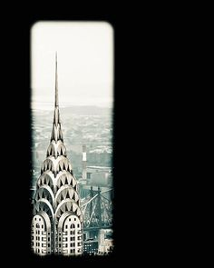 Photo of Chrysler Building NYC Architecture Through by CarlaDyck, $ 30.00