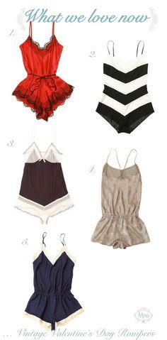 vintage lingerie rompers