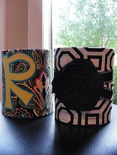 Dressed up coozies :)
