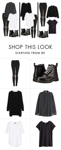 """""""iKon - Apology Dance Version // Chanwoo"""" by berrie95 ❤ liked on Polyvore featuring Topshop, Dr. Martens, H&M, Monki, ikon and chanwoo"""