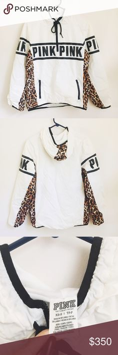 PINK Cheetah Anorak PINK Cheetah Anorak in excellent like-new condition. This print is heavily sought after and considered hard to find. Anoraks run large; could also fit a medium.                               ❌NO TRADES❌                                                                                    ❌Price is high for OFFERS--not actual asking price❌               ❌Offers made through offer button only❌ PINK Victoria's Secret Jackets & Coats