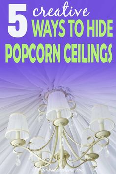 These DIY home decor ideas for covering a popcorn ceiling are AWESOME! I love these ideas! Now I know how to update the room decor in my house. #fromhousetohome #homedecorideas #roomdecor #ceilings #decoratingtips #diydecorating