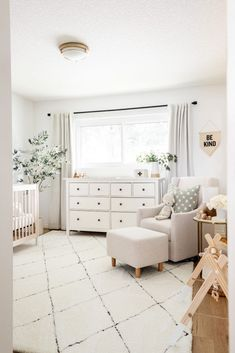Baby Staples 'Nursery Reveal – Home – Baby Nursery 'Nursery Reveal – Inicio – Baby Nursery Neutral, Baby Nursery Decor, Baby Bedroom, Nursery Artwork, Boho Nursery, Babies Nursery, Ikea Nursery, White Nursery Furniture, Project Nursery