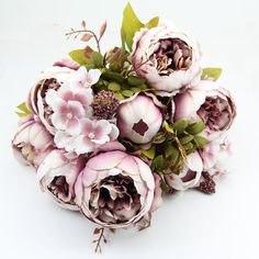 $6.50 1 Bouquet 10 Heads Vintage Artificial Peony Silk Flower Wedding Home Decor-in Decorative Flowers & Wreaths from Home & Garden on Aliexpress.com   Alibaba Group