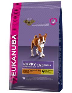 Eukanuba Puppy / Junior Medium Breed Dry Dog Food - for sale online Dog Food Ratings, Dog Food Reviews, Dog Food Coupons, Dog Food Comparison, Dog Food Recall, Dog Food Container, Food Cost, Dog Food Brands, Food Charts