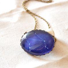 Libra Constellation Necklace Libra Zodiac Jewelry by JujuTreasures