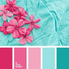 бирюзовый, бледно-розовый и голубой, бледно-розовый и розовый, голубой и бледно-розовый, голубой и розовый, небесный цвет, оттенки бирюзового, оттенки розового заката, розовый закат, розовый и бледно-розовый, яркий цвет маджента.